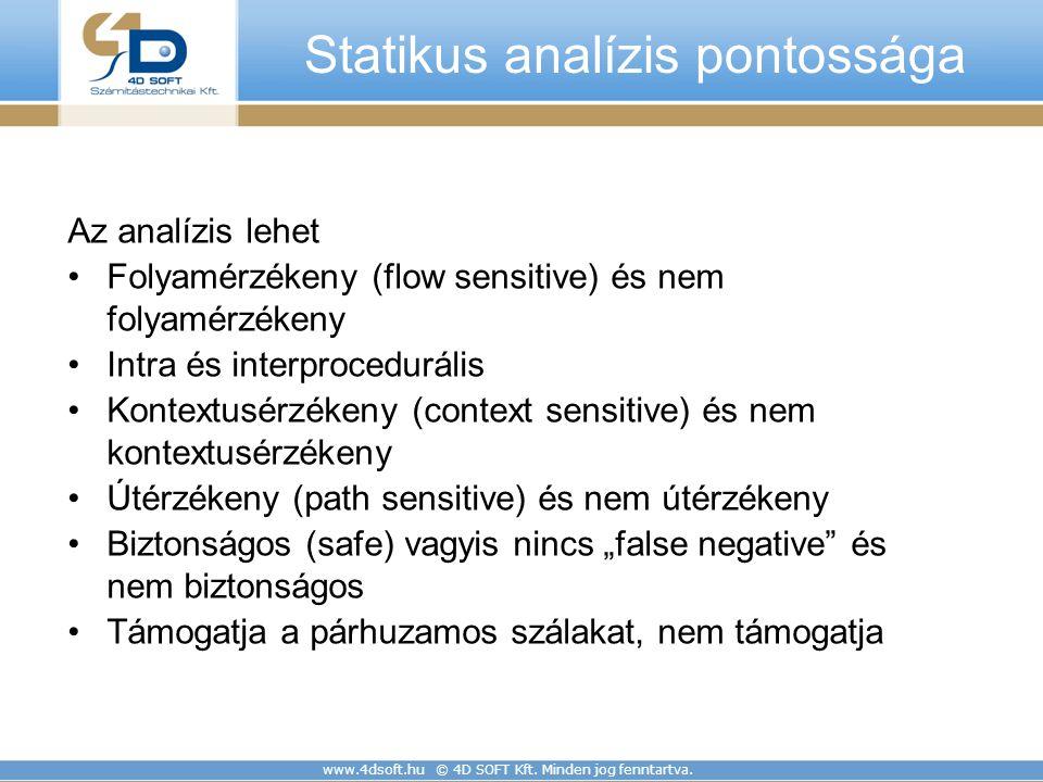 Statikus analízis pontossága
