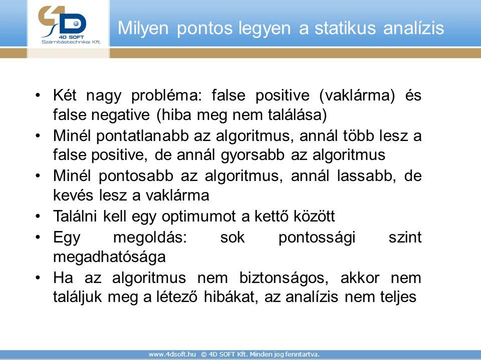 Milyen pontos legyen a statikus analízis