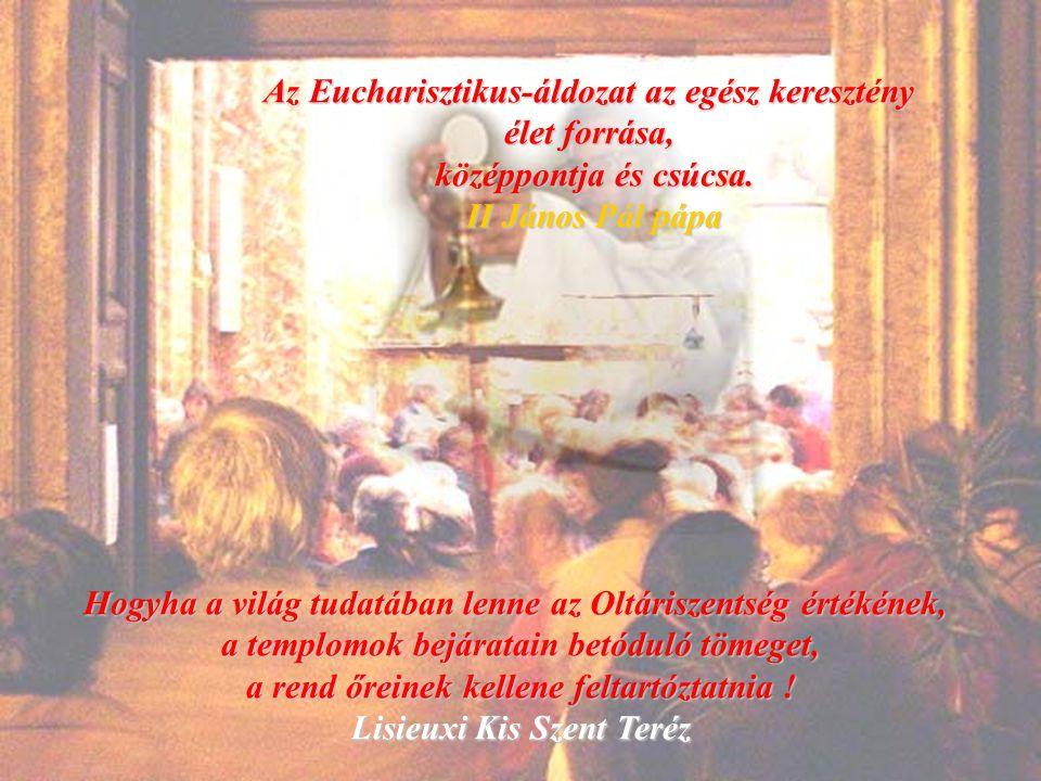 Az Eucharisztikus-áldozat az egész keresztény élet forrása,