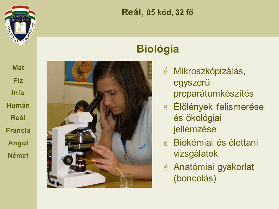 Biológia Mikroszkópizálás, egyszerű preparátumkészítés