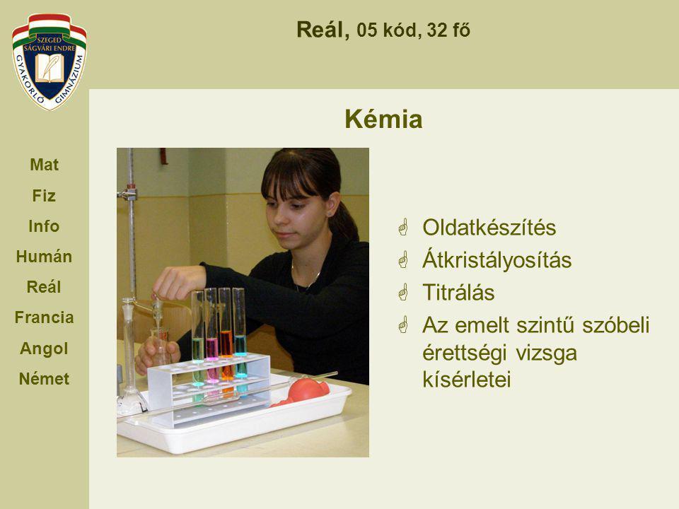 Kémia Oldatkészítés Átkristályosítás Titrálás