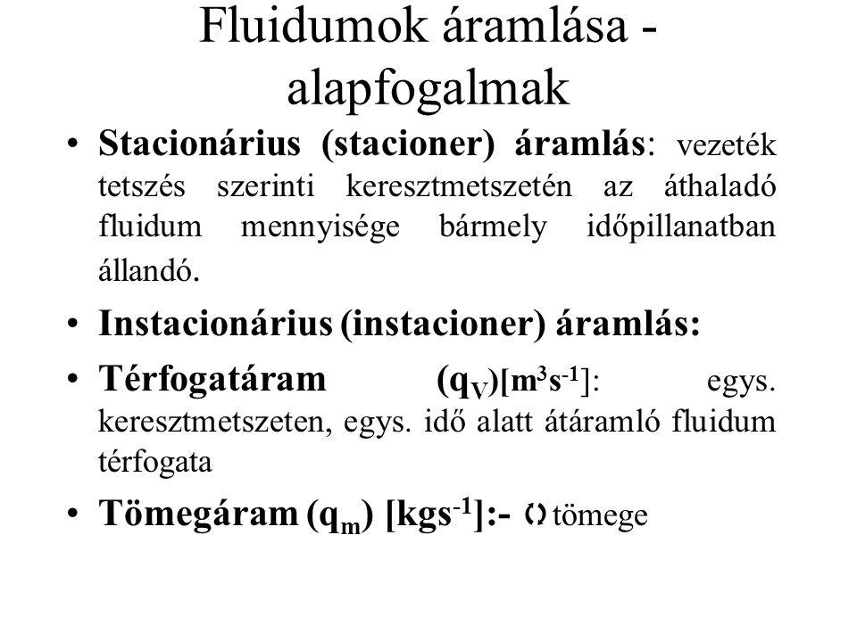 Fluidumok áramlása - alapfogalmak