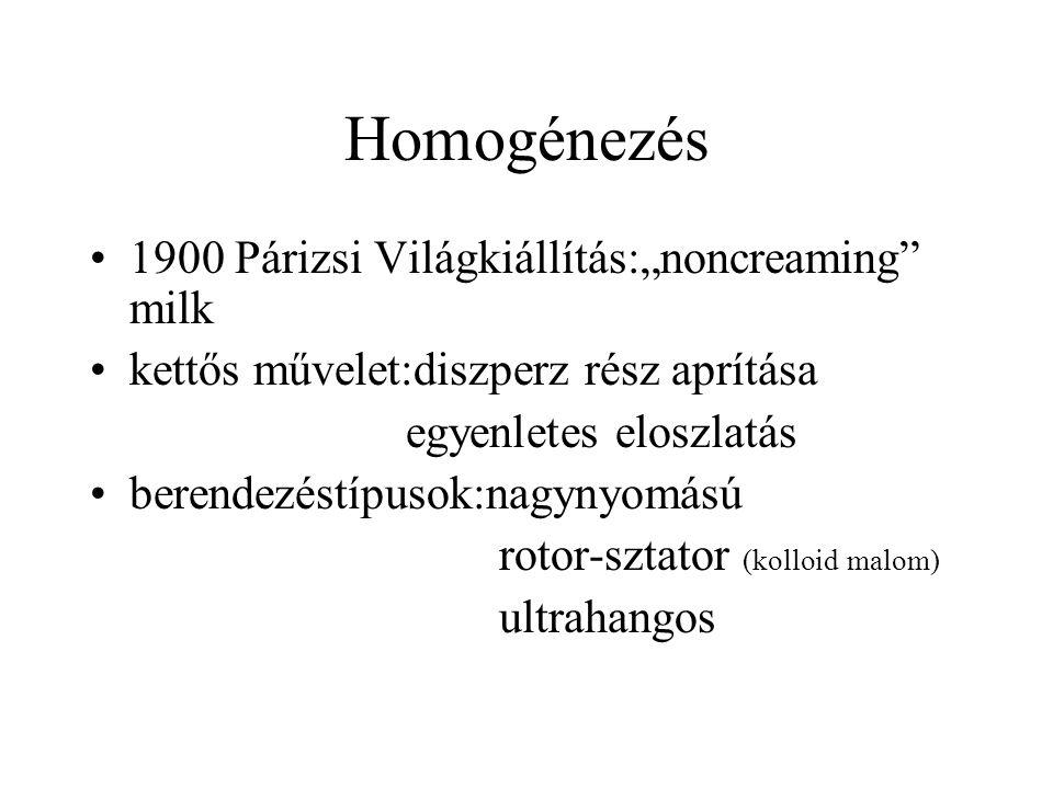 """Homogénezés 1900 Párizsi Világkiállítás:""""noncreaming milk"""