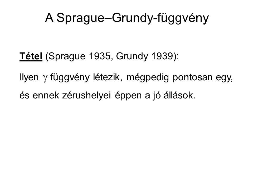 A Sprague–Grundy-függvény