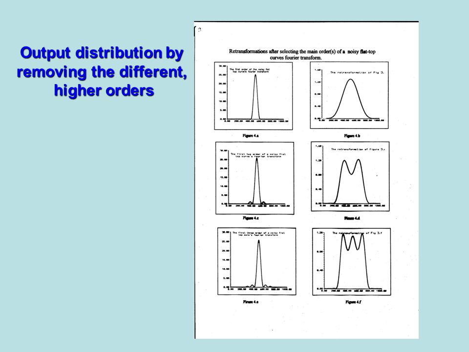 Output distribution by removing the different, higher orders