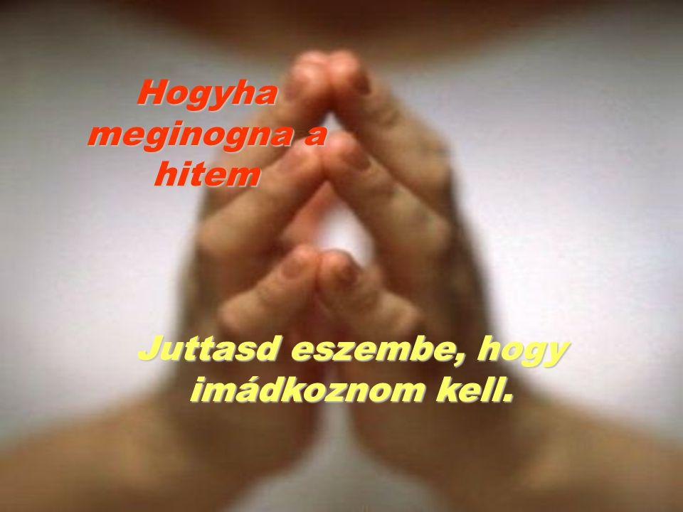 Hogyha meginogna a hitem Juttasd eszembe, hogy imádkoznom kell.