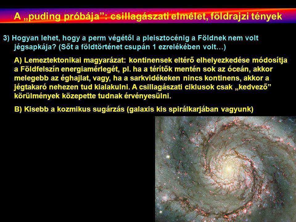 """A """"puding próbája : csillagászati elmélet, földrajzi tények"""
