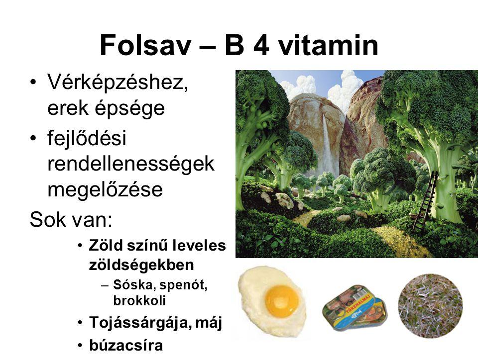 Folsav – B 4 vitamin Vérképzéshez, erek épsége