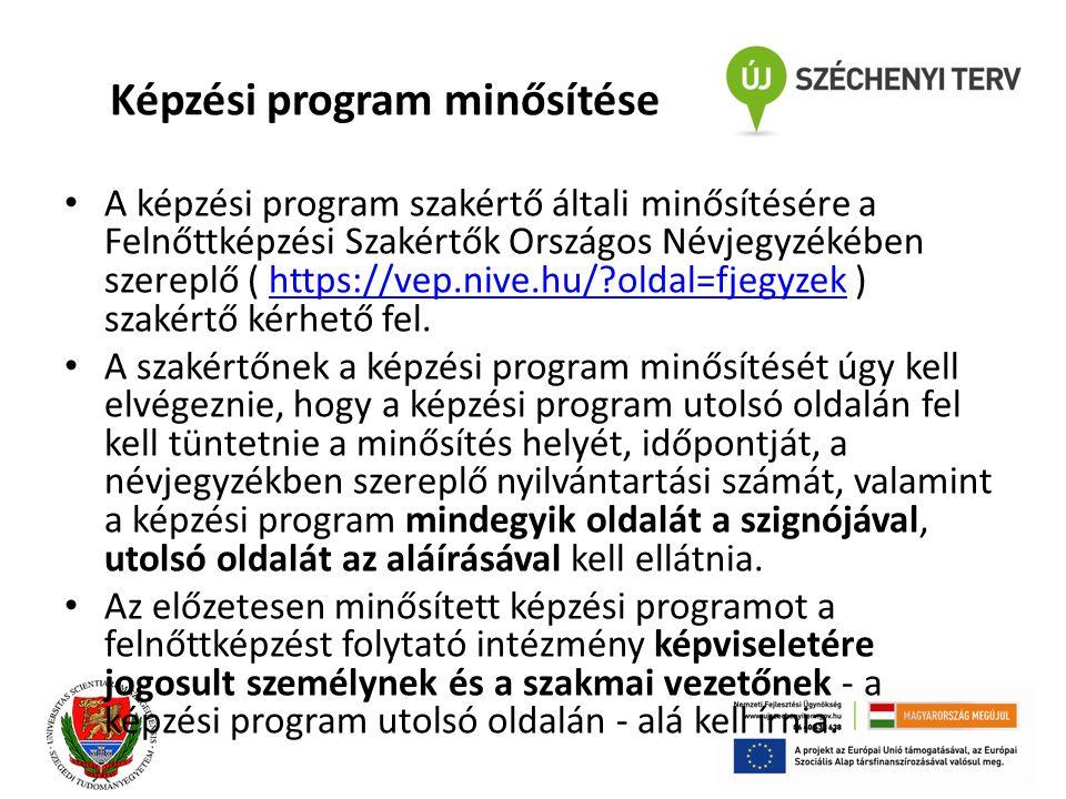 Képzési program minősítése