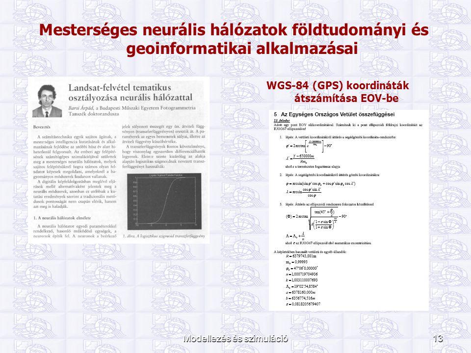 WGS-84 (GPS) koordináták átszámítása EOV-be
