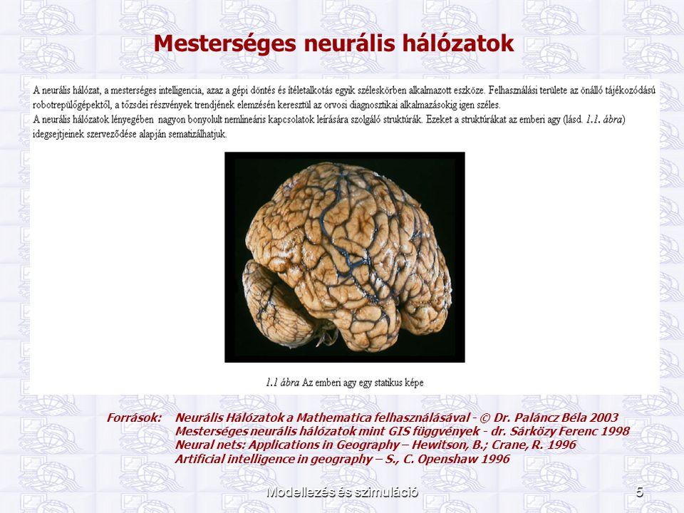 Mesterséges neurális hálózatok