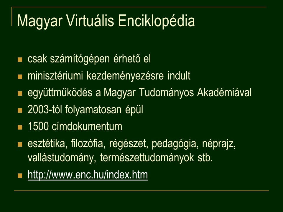 Magyar Virtuális Enciklopédia