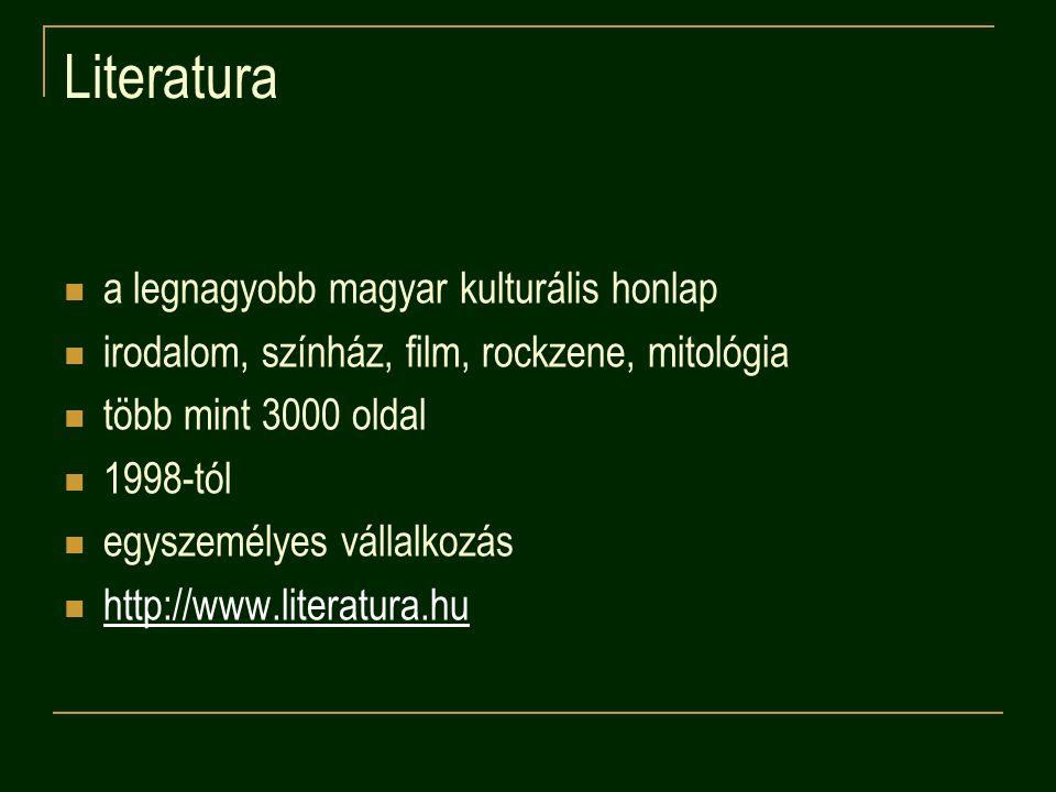 Literatura a legnagyobb magyar kulturális honlap