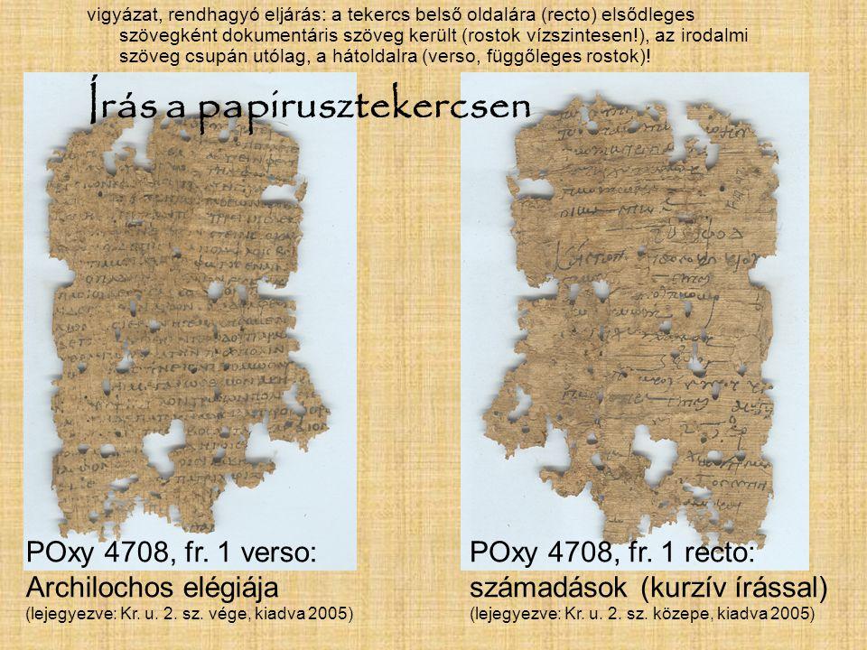 Írás a papirusztekercsen