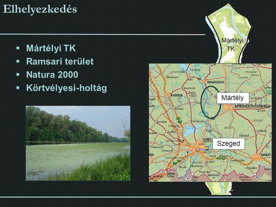 Elhelyezkedés Mártélyi TK Ramsari terület Natura 2000