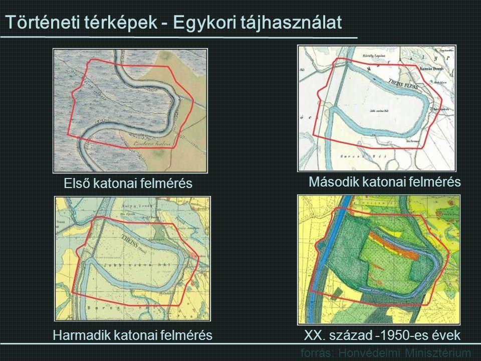 Történeti térképek - Egykori tájhasználat