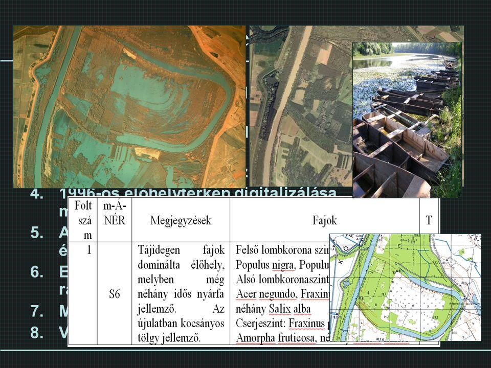 Módszertani lépések Topográfiai alaptérkép, légifotó beszerzése