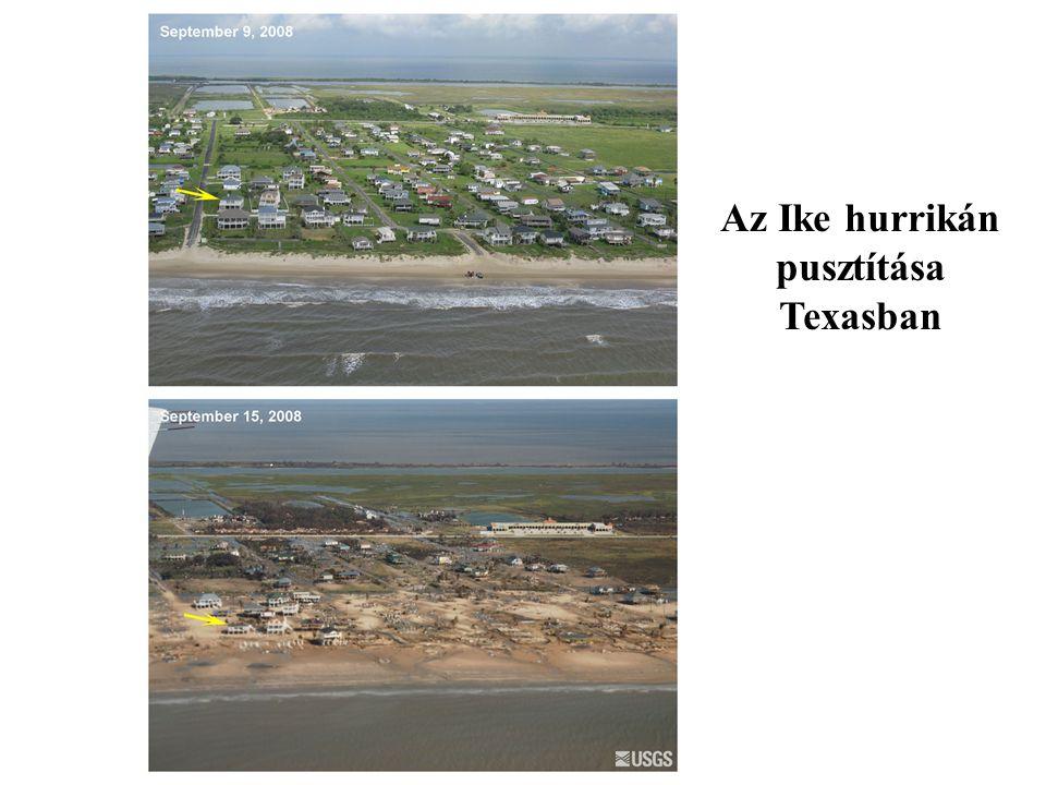 Az Ike hurrikán pusztítása Texasban
