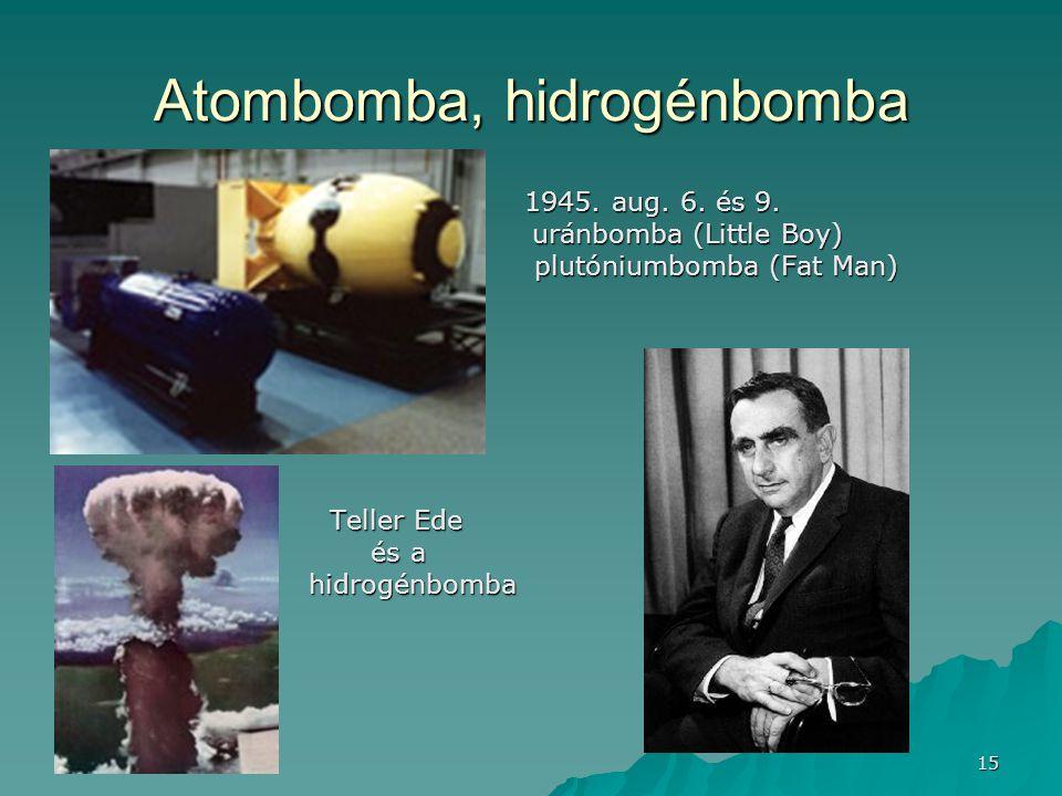Atombomba, hidrogénbomba