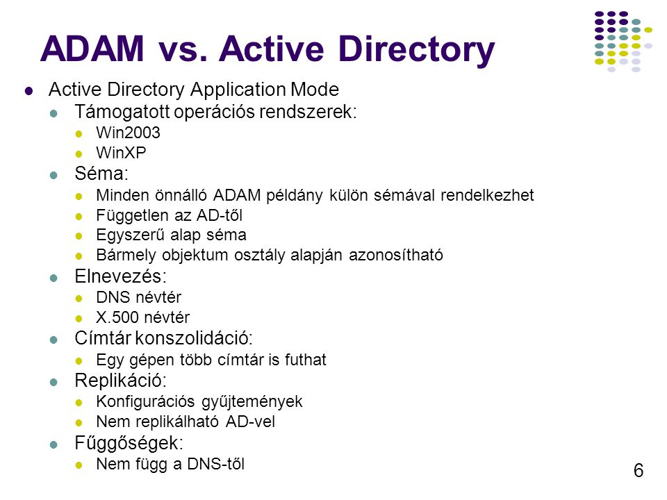 ADAM vs. Active Directory