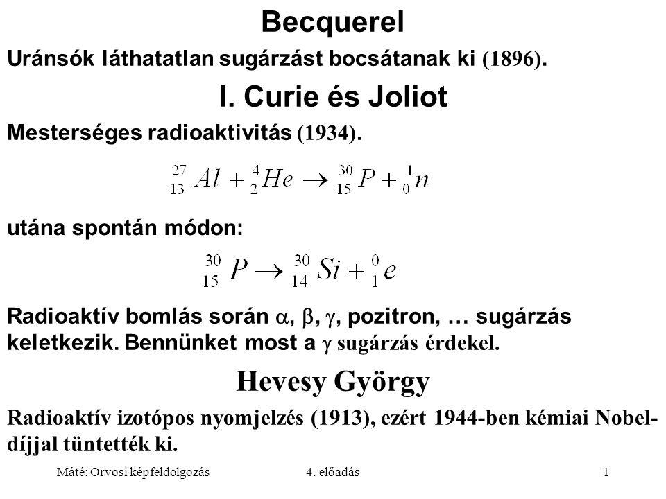 Becquerel I. Curie és Joliot Hevesy György