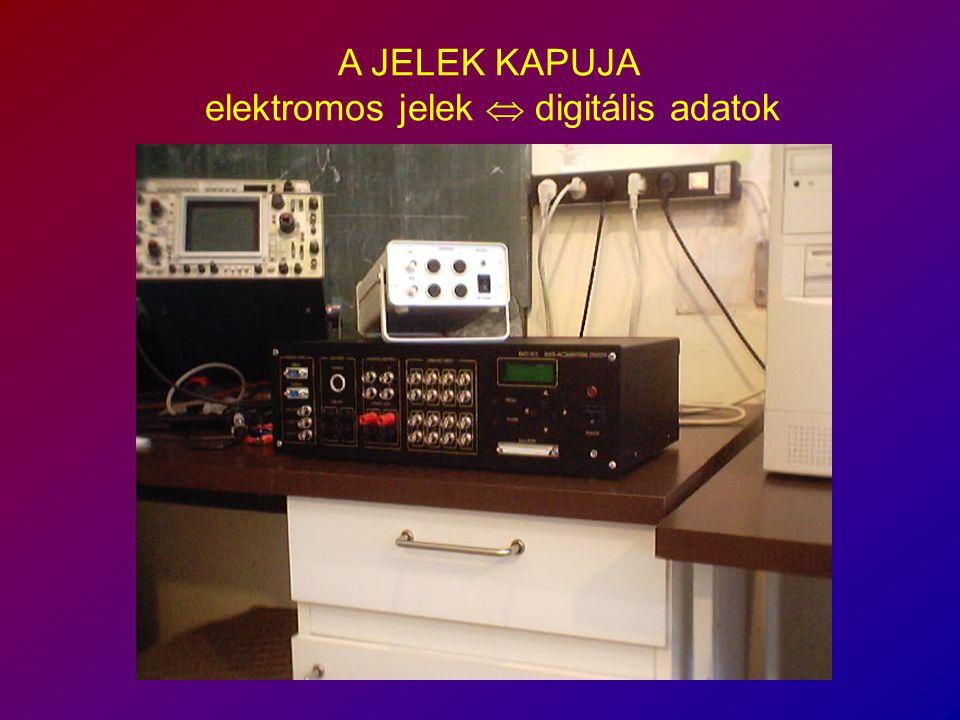 A JELEK KAPUJA elektromos jelek  digitális adatok