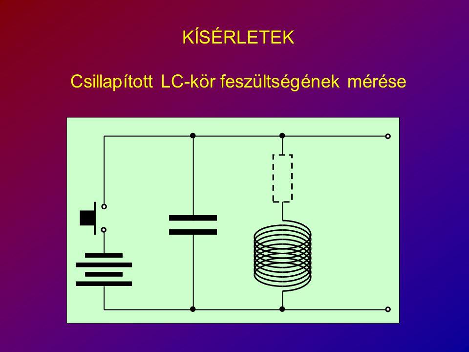 KÍSÉRLETEK Csillapított LC-kör feszültségének mérése
