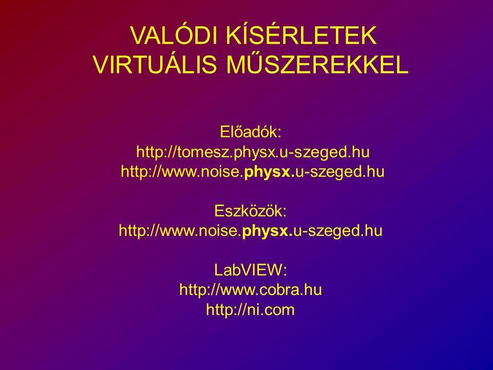 VALÓDI KÍSÉRLETEK VIRTUÁLIS MŰSZEREKKEL