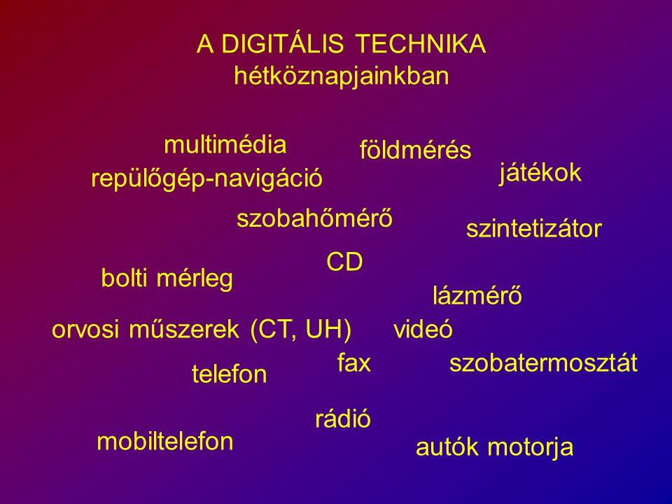 A DIGITÁLIS TECHNIKA hétköznapjainkban