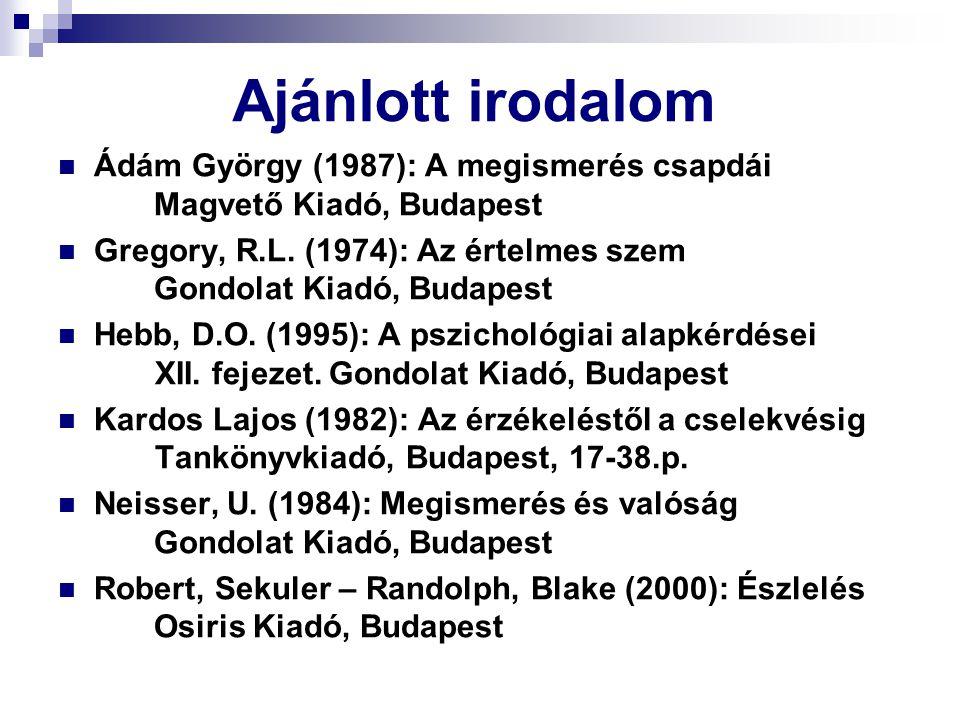 Ajánlott irodalom Ádám György (1987): A megismerés csapdái