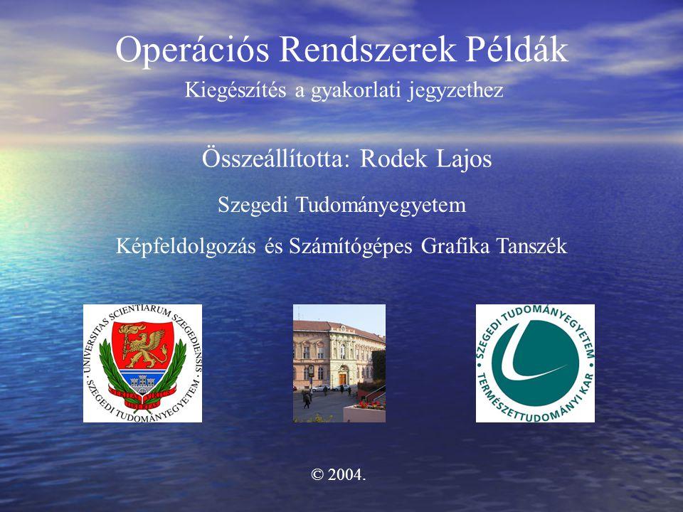 Operációs Rendszerek Példák