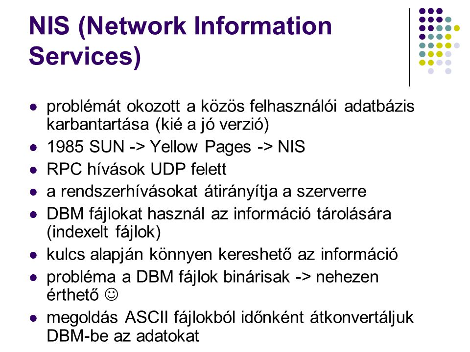 NIS (Network Information Services)