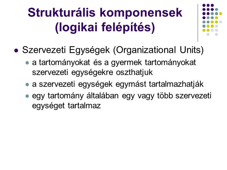 Strukturális komponensek (logikai felépítés)