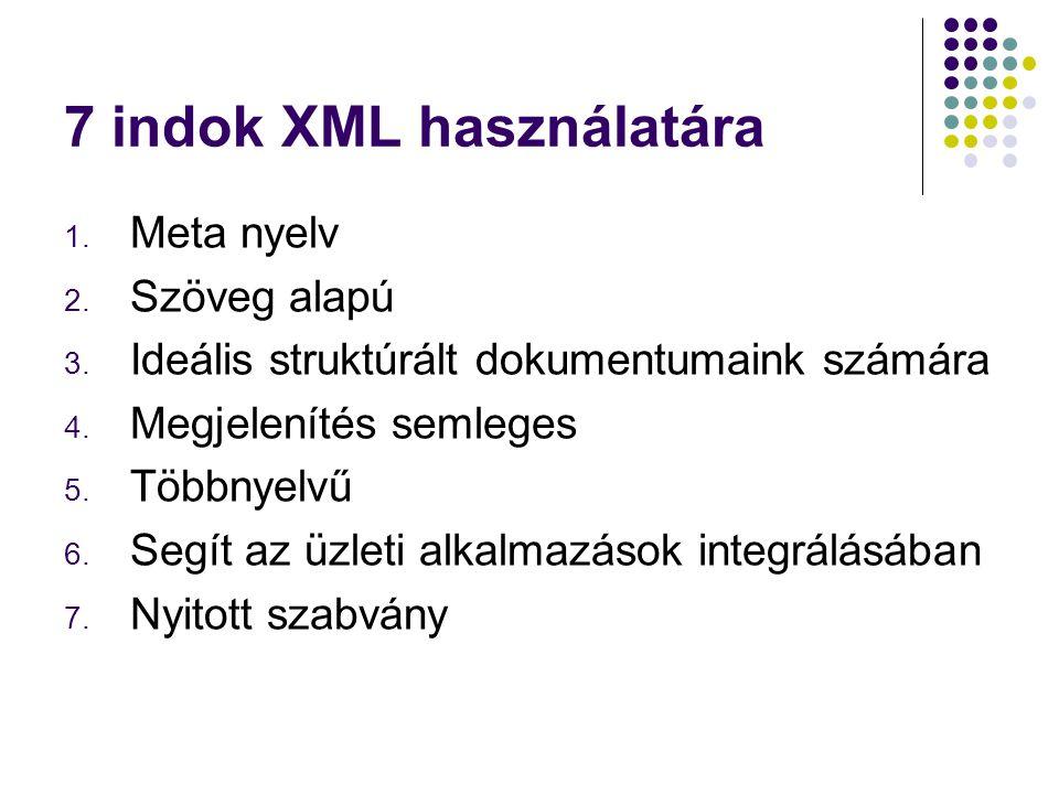 7 indok XML használatára