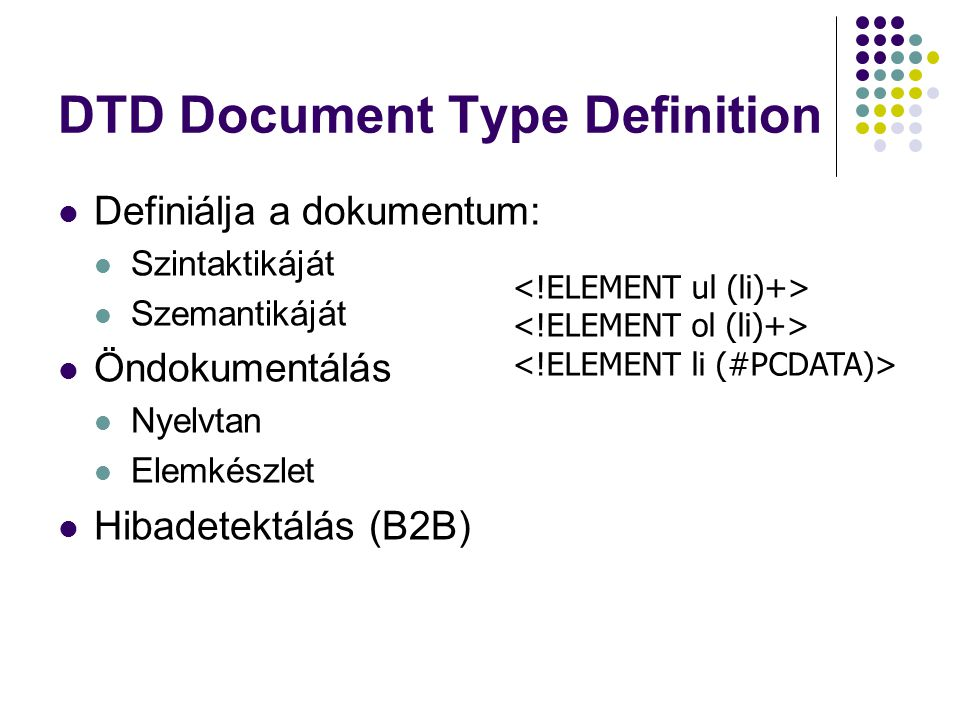 DTD Document Type Definition