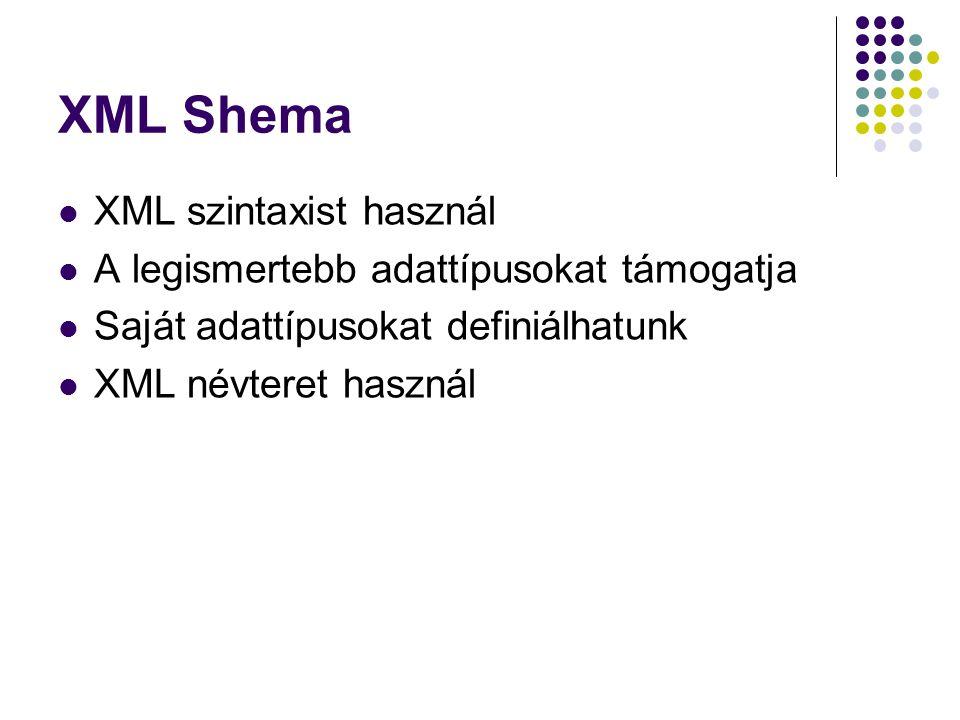 XML Shema XML szintaxist használ