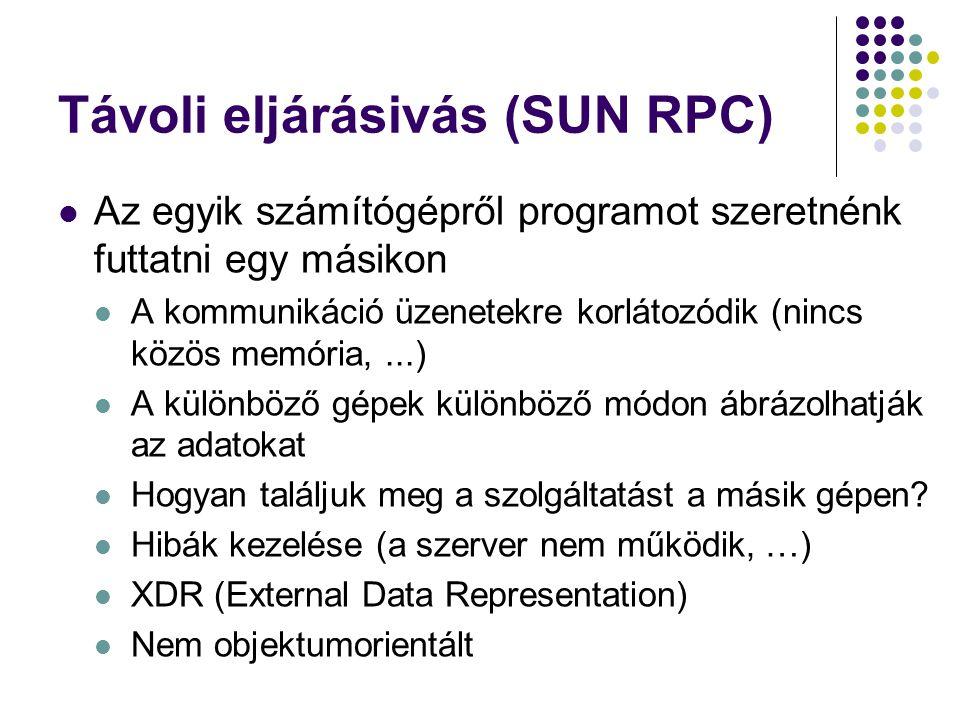 Távoli eljárásivás (SUN RPC)