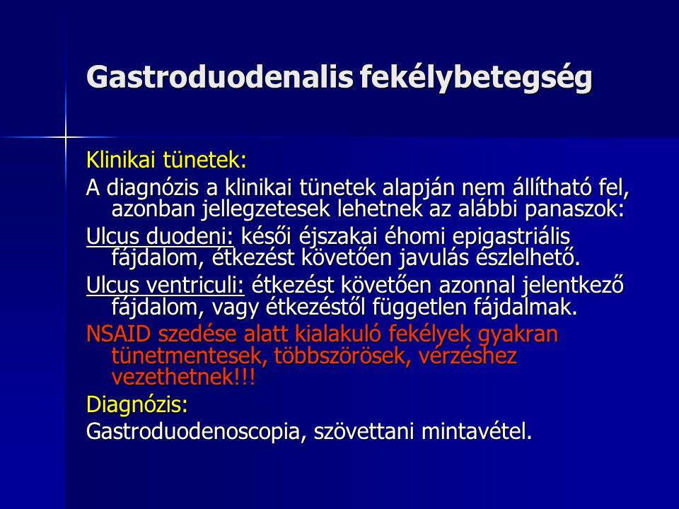 Gastroduodenalis fekélybetegség