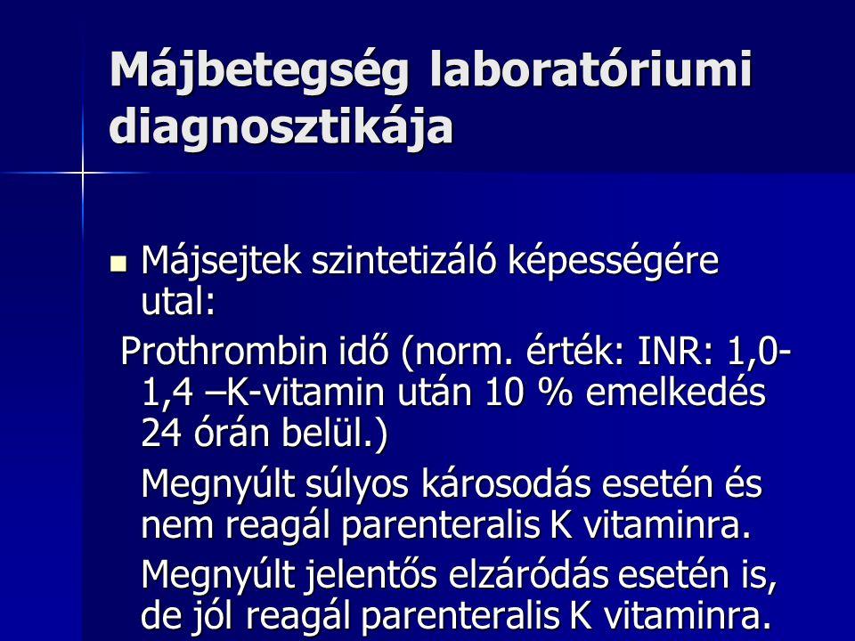 Májbetegség laboratóriumi diagnosztikája