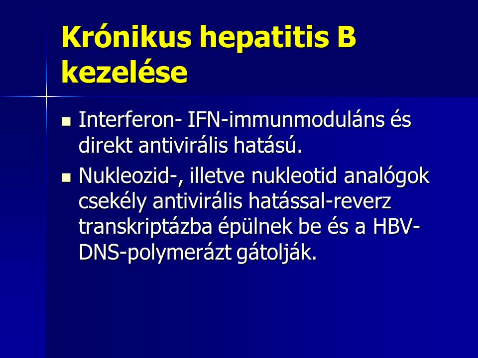Krónikus hepatitis B kezelése