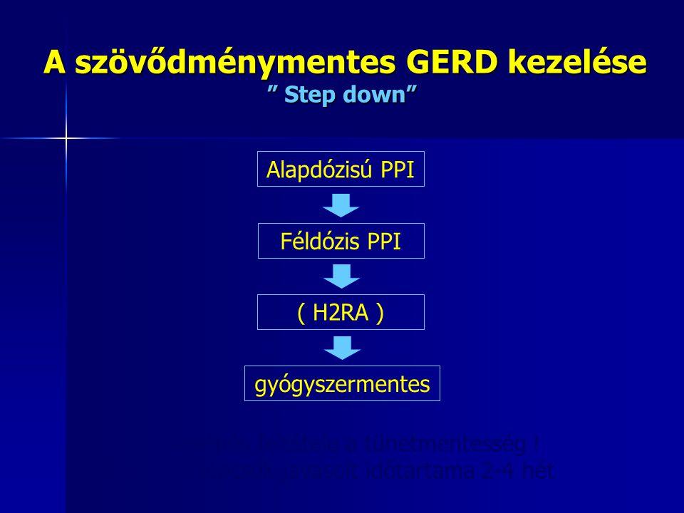 A szövődménymentes GERD kezelése Step down