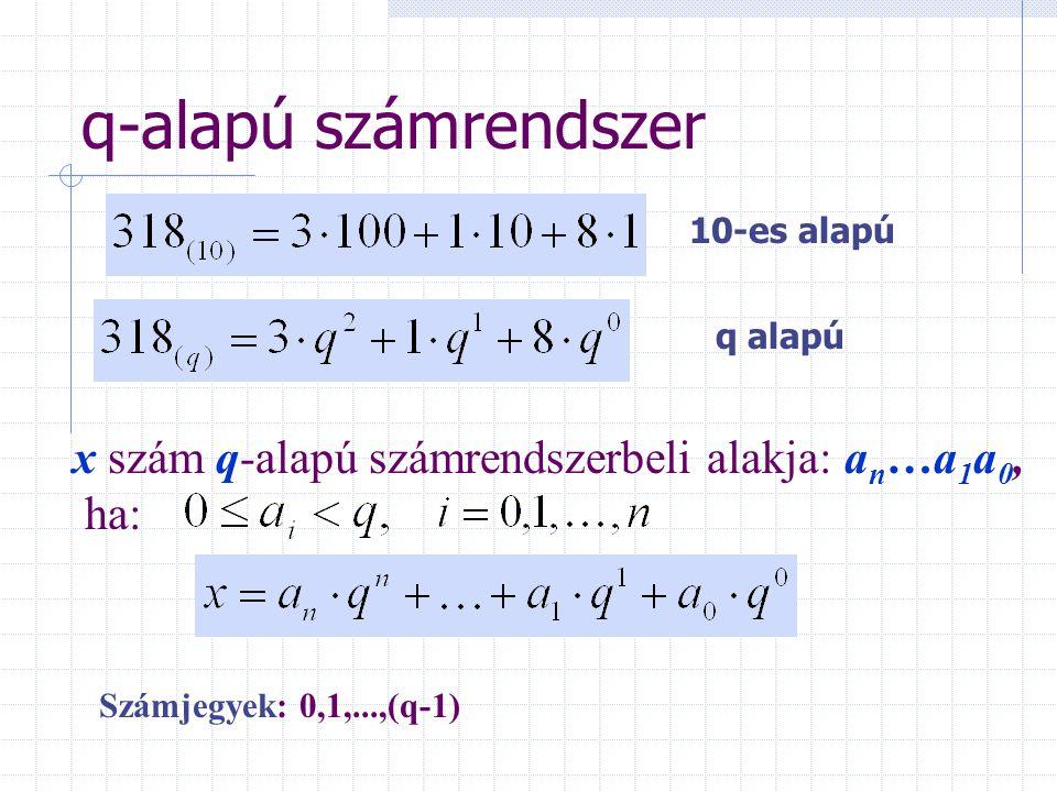 q-alapú számrendszer 10-es alapú. q alapú.