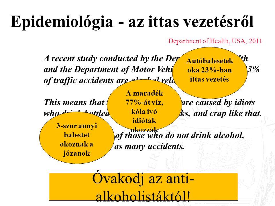 Epidemiológia - az ittas vezetésről