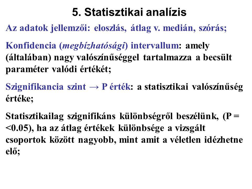 5. Statisztikai analízis