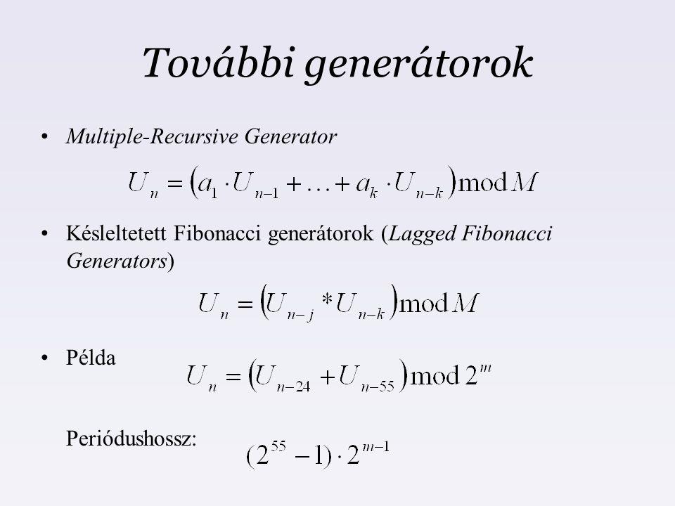 További generátorok Multiple-Recursive Generator