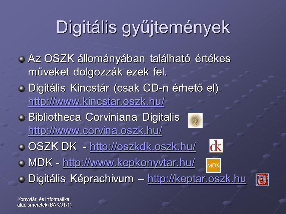 Digitális gyűjtemények
