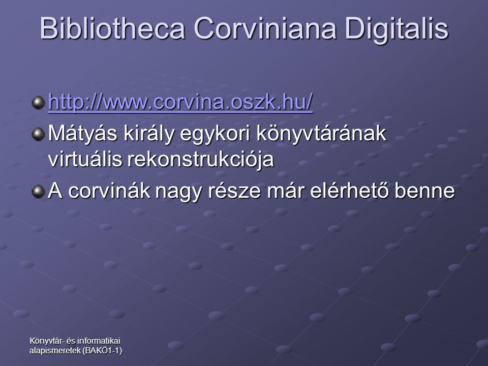 Bibliotheca Corviniana Digitalis