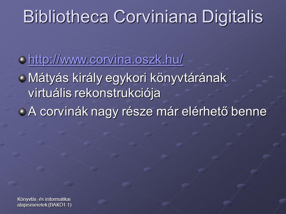 Bibliotheca Corviniana Digitalis