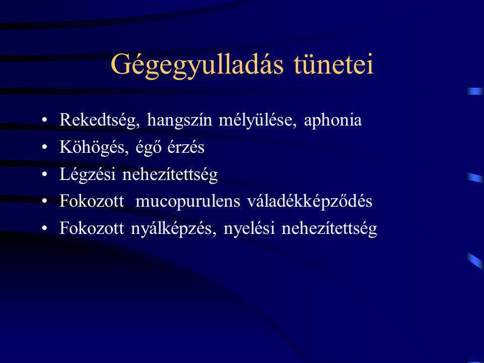 Gégegyulladás tünetei