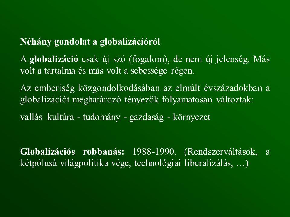 Néhány gondolat a globalizációról